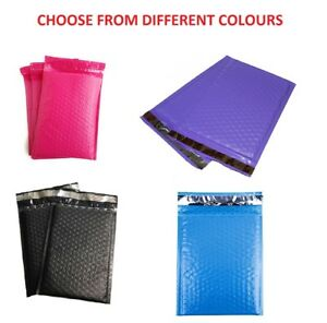0 6x10 Poly Bubble Mailers Color Padded Mailing Bags Shipping Envelopes 6 X 9