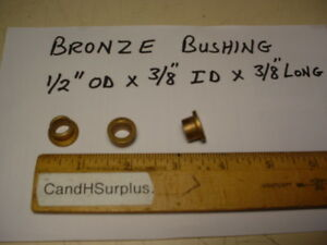 Bronze Bushing 1 2 X 3 8 With Flange Lot Of 100 Pcs