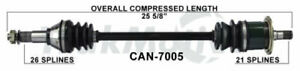 Cv Axle Assembly Front Left Surtrack Fits 11 15 Can am Commander 1000 Xt