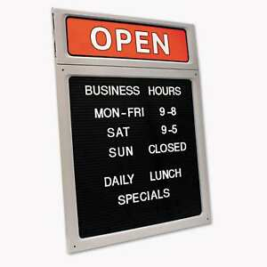 Cosco Message business Hours Sign 15 X 20 1 2 Black red