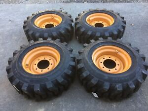 4 12 16 5 Hd Skid Steer Tires wheels rims For Case 12x16 5 solideal Sks 732