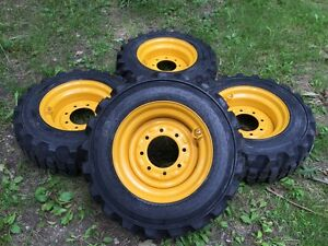 4 New 10 16 5 Galaxy Xd2010 Skid Steer Tires wheels rims For John Deere 10x16 5