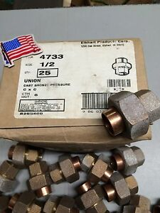 25 1 2 Elkhart Unions Cast Bronze Pressure usa New Old Stock Heavy Pattern