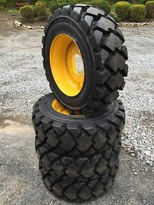 4 Galaxy Hulk L5 Hd 10 16 5 Skid Steer Tires wheels rims For New Holland 10x16 5