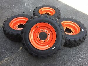 4 Hd 10 16 5 Trac Chief Xt Skid Steer Tires wheels rims For Bobcat 10x16 5 10ply