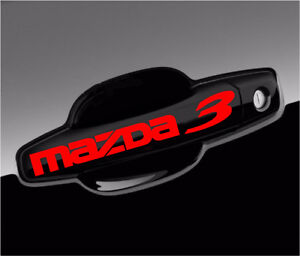 Mazda 3 Decal Gs Gx Gt Sport Racing Car Vinyl Decal Stickers Graphics Emblem 8pc