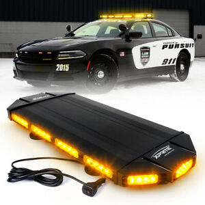 Amber Black Hawk 27 Led Security Warning Roof Top Strobe Light Bar Tow Truck