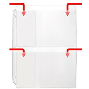 Storesmart Binder Page For 2 Cds Cards 100pk For 3 ring Binders R931fd 100
