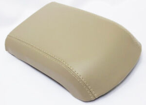 Armrest Center Console Lid Cover Synthetic Leather For 13 16 Ford Escape Beige
