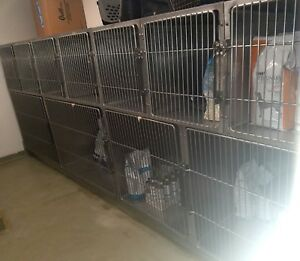 Shoreline Veterinary Cages Bank Of 11 Cages