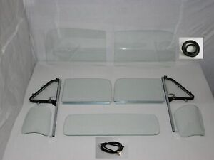 Clear Glass 1951 53 Chevy Pickup Windshield Vent W post Door Assmb 3pc Back Seal
