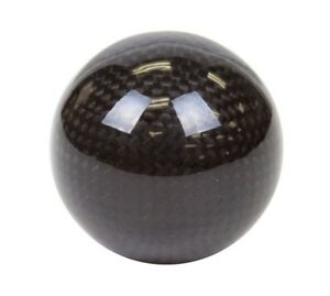 Nrg Universal Racing Black Carbon Fiber Round Shift Knob Upgrade Ball Style