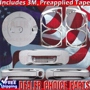 For 07 08 Dodge Ram 1500 Chrome Door Handle Covers gas tailgate tailight Bezel