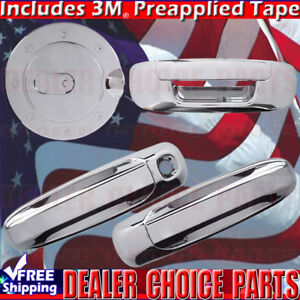 For 02 08 Dodge Ram 1500 03 09 2500 3500 Chrome Door Handle Covers Gas Tailgate