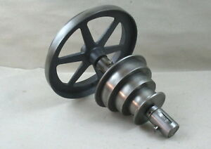 Orig Logan 10 Lathe Model 210 Countershaft 2 3 Step Pulley Assembly