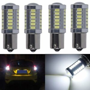 4x White Strobe Blink Flash 1156 Ba15s P21w 33 Led 5730 Smd Car Turn Signal Bulb