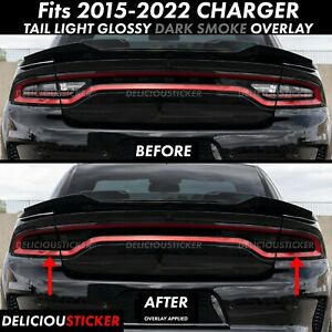 Fits 2015 2020 Charger Tail Light Smoke Rear Precut Tint Overlay Vinyl Smoked