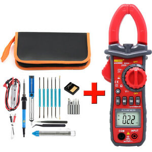 60w Adjustable Temperature Welding Soldering Iron Tool Kit W Ua2008a Multimeter