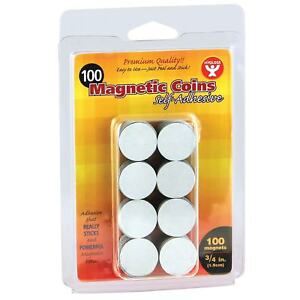 Hygloss Self adhesive Magnetic 3 4 Coins 100 pk Bundle Of 6 Packs