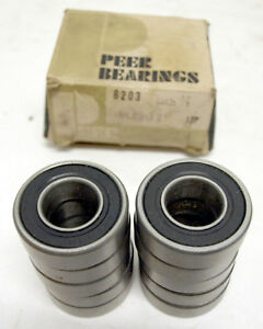 Lot Of 10 Peer Bore Bearings P n 6203 Rs 3 4 Double Sealed Nos