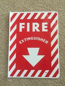 8 X 12 90 Degree Fire Extinguisher Arrow Sign Aluminum double Sided