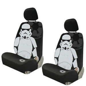 New Disney Star Wars Stormtrooper Car Truck 2 Front Seat Covers Headrest Covers