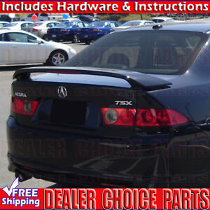 2004 2005 2006 2007 2008 Acura Tsx Factory Style Trunk Spoiler W Led Unpainted