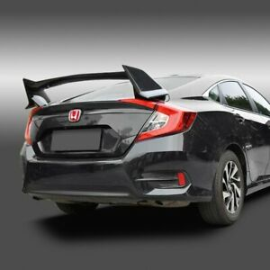 Fit Honda Civic 10th Sedan Abs Primer Black Rear Trunk Type R Style Spoiler Wing