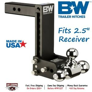 Ts20049b B W 7 Drop Tow Stow Adjustable Ball Mount For 2 5 Receiver Hitch