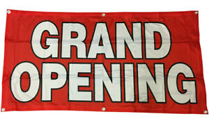 2x4 Ft Grand Opening Banner Sign Store Sale Polyester Fabric Rb