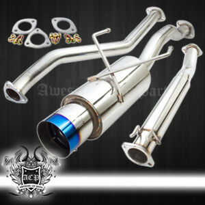 2001 2005 Honda Civic Em2 Ex 4 5 Burnt Tip 65mm Piping Catback Exhaust System