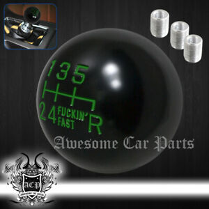 For Chevy Black Green Round Ball Type Manual Gear M T Shifter Shift Knob Thread