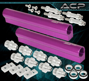 Subaru Sti Wrx Impreza Turbo Race Motor High Flow Fuel Rail Aluminum Kit Purple