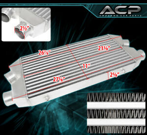 Dual Core Aluminum High Flow Front Mount Intercooler Fmic 29 5 x11 x2 5 In out