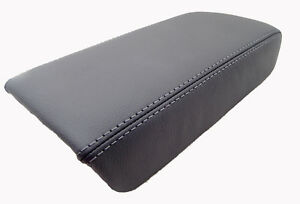 Gray Center Console Lid Armrest Cover Synthetic Leather For 03 07 Honda Accord