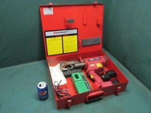 Burndy Bat500 Battery Operated Hydraulic Cable Crimper Tool 12v