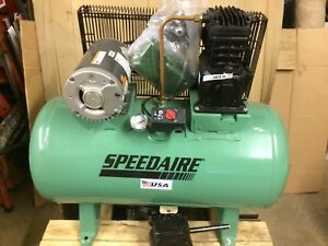 air Compressor 3hp 3ph 9 5 10 Cfm Speedaire Model 4b237 New