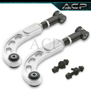 05 10 Scion Tc Performance Adjustable Front Rear Camber Bolt Kit Rod Bar Silver