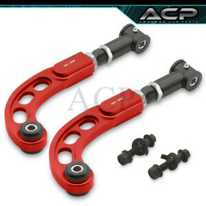 05 10 Scion Tc Performance Adjustable Front Rear Camber Bolt Kit Rod Bar Red