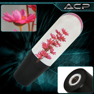 Clear Poly Style Shift Knob M T Flower Filled Red 150mm