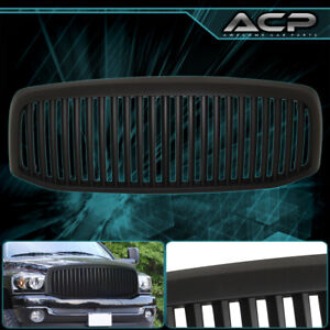 2006 2008 Dodge Ram 1500 Vertical Style Upper Front Grille Grill Black Abs