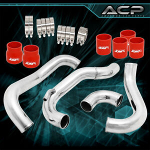 Intercooler Piping Kit With Red Couplers For Nissan 240sx 180sx 89 94 Ca18det