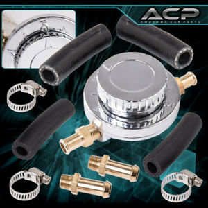 Silver Adjustable Fuel Pressure Regulator For Universal Carburetor Engines