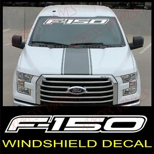 Ford F 150 Windshield Window Vinyl Decal Sticker Outline Vehicle Logo White 40