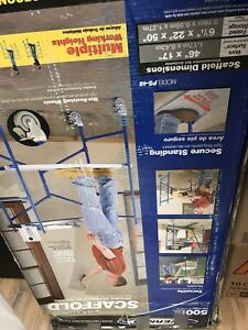 Scaffolding Multi Purpose Ladder Rolling Drywall Metal Construction Painter 1d
