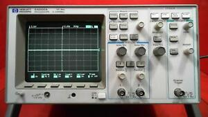 Hp Agilent 54600a Oscilloscope 2 Channel 100mhz With 54651a Rs 232 Interface