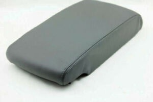 Dark Gray Center Console Armrest Cover Synthetic Leather For 05 12 Toyota Avalon