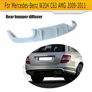 Unpainted Frp Rear Bumper Diffuser Spoiler For Mercedes Benz W204 C63amg 08 11