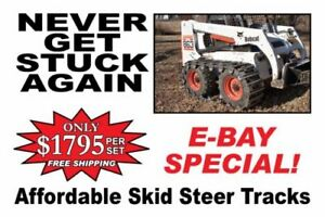 Over The Tire Steel Skid Steer Tracks 10 Or 12 For Cat Case Jd Bobcat Etc