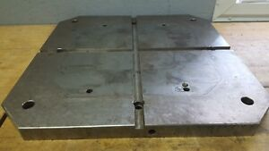 24 2 4 X 24 3 4 Sub Plate Slotted Steel Fixture mounting Plate Table